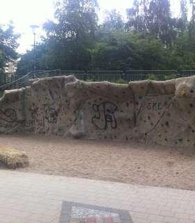 Boulderwand im Walter-Möller-Park
